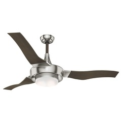 Casablanca Fan Co Perseus Brushed Nickel LED Ceiling Fan with Light