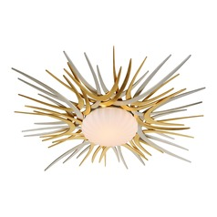 Corbett Lighting Helios Gold / Silver Leaf LED Flushmount Light