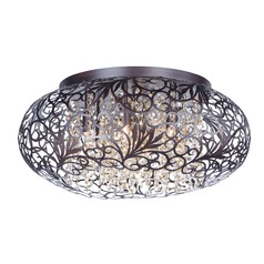 Maxim Lighting Arabesque Oil Rubbed Bronze Flushmount Light
