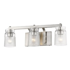 Golden Lighting Travers Pewter Bathroom Light