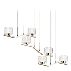 Kichler Lighting Lasus Polished Nickel LED Chandelier 3000K 2450LM