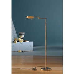 Holtkoetter Modern Floor Lamp in Antique Brass Finish