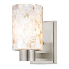 Mosaic Glass Sconce Satin Nickel