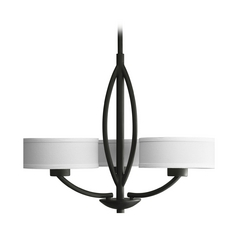Progress Modern Chandelier in Forged Black Finish