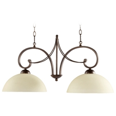Quorum Lighting Lariat Oiled Bronze Island Light