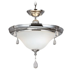 Sea Gull Lighting West Town Chrome Pendant Light with Bowl / Dome Shade