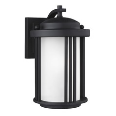 Sea Gull Crowell Black Outdoor Wall Light