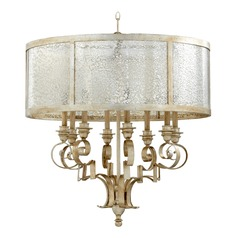 Quorum Lighting Champlain Aged Silver Leaf Chandelier