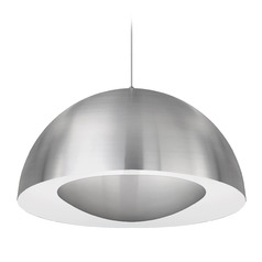 Modern Brushed Nickel LED Pendant 3000K 1500LM