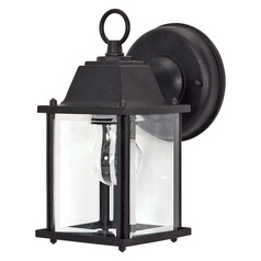 Nuvo Lighting Textured Black Outdoor Wall Light