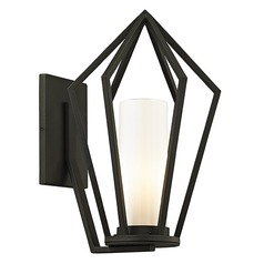 Troy Lighting Whitley Heights Textured Black Outdoor Wall Light