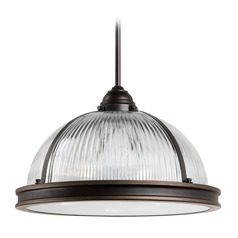 Sea Gull Lighting Pratt Street Prismatic Autumn Bronze LED Pendant Light with Bowl / Dome Shade