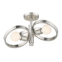 Golden Lighting Sloane Pewter Semi-Flushmount Light