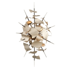 Corbett Lighting Poetry Tranquility Silver Leaf Sconce