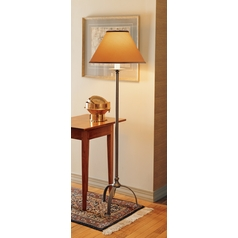 Hubbardton Forge Lighting Hubbardton Forge Lighting Simple Lines Natural Iron Floor Lamp with Empire Shade 242051-20-117