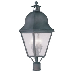 Livex Lighting Amwell Charcoal Post Light