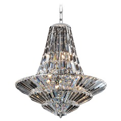 Art Deco Chandelier Chrome Auletta by Allegri Crystal