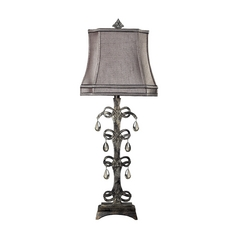 Table Lamp with Grey Shade in Durand Finish