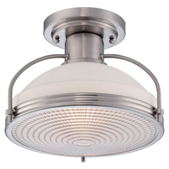Farmhouse Semi-Flushmount Light Brushed Nickel  by Quoizel Lighting