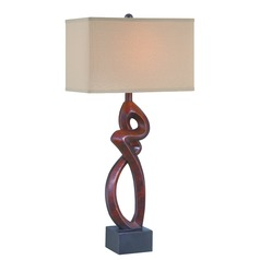 Lite Source Menna Gold Bronze Table Lamp with Rectangle Shade