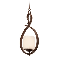Kalco Lighting Stapleford Tuscan Sun Mini-Pendant Light with Oval Shade
