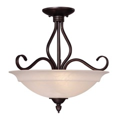 Savoy House English Bronze Semi-Flushmount Light