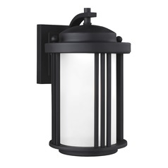 Sea Gull Crowell Black LED Outdoor Wall Light