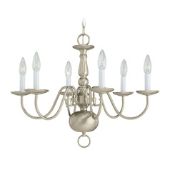 Sea Gull Lighting Traditional Brushed Nickel LED Chandelier