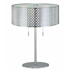 Table Lamp in Polished Steel Finish