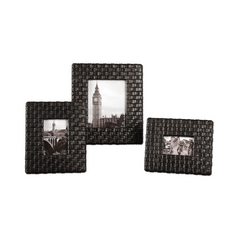 Uttermost Lighting Decorative Photo Frames with in Woven Faux Leather - Set of Three 18524