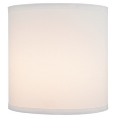 White Linen Drum Lamp Shade with Spider Assembly - 10-1/2-Inches Tall