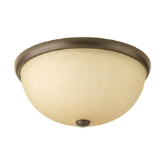 Progress Lighting Modern Flushmount Light with Beige / Cream Glass in Antique Bronze Finish P3660-20WB