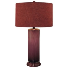 Minka Lavery Purple Table Lamp with Drum Shade