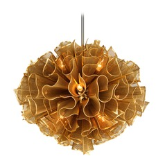 Art Deco Pendant Light Gold Pulse by Corbett Lighting