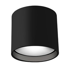 Modern Black LED Flushmount Light 3000K 950LM