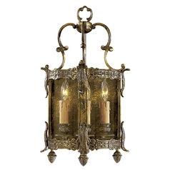 Sconce Wall Light with Clear Glass in Antique Bronze Patina Finish