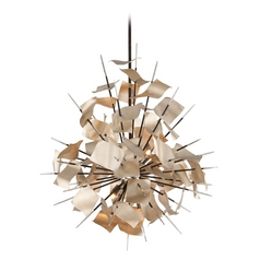Corbett Lighting Poetry Tranquility Silver Leaf Pendant Light