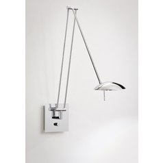 Holtkoetter Modern Swing Arm Lamp in Chrome Finish