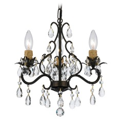 Crystorama Paris Market 3-Light Crystal Chandelier in English Bronze