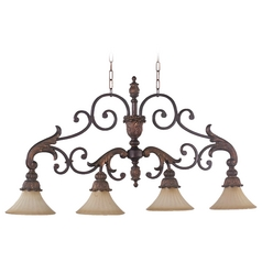 Quorum Lighting Madeleine Corsican Gold Island Light with Bell Shade