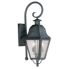 Livex Lighting Amwell Charcoal Outdoor Wall Light