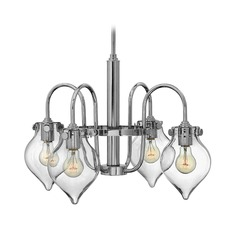 Hinkley Congress 4-Light Chandelier with Clear Urn Glass in Chrome