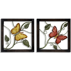 Stylecraft 2-Piece Metal Wall Butterfly Art Set