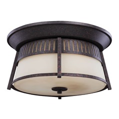 Sea Gull Lighting Hamilton Heights Oxford Bronze Close To Ceiling Light