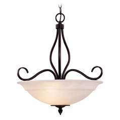 Savoy House English Bronze Pendant Light with Bowl / Dome Shade