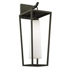 Troy Lighting Mission Beach Textured Black Outdoor Wall Light