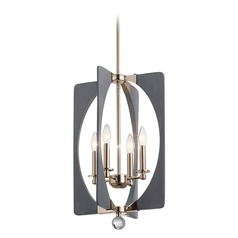 Kichler Lighting Alscar 4-Light Polished Nickel and Grey Pendant Light