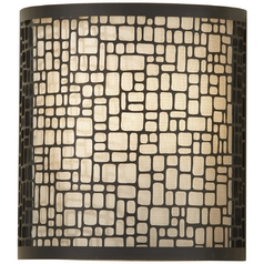 Murray Feiss Import Co. Modern Sconce with Natural / Beige Glass Shade WB1564LAB