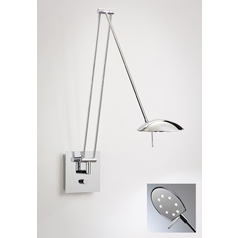Holtkoetter Modern LED Swing Arm Lamp in Chrome Finish