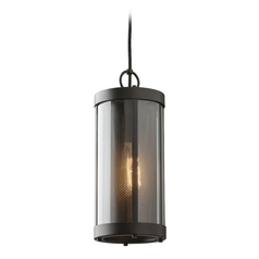 Feiss Lighting Bluffton Oil Rubbed Bronze Mini-Pendant Light with Cylindrical Shade